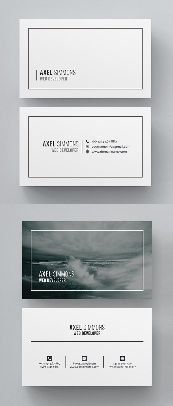 Simple Clean Business Card Template