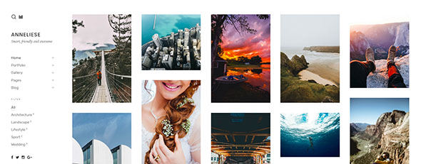Anneliese - A Photography Simple WordPress Theme