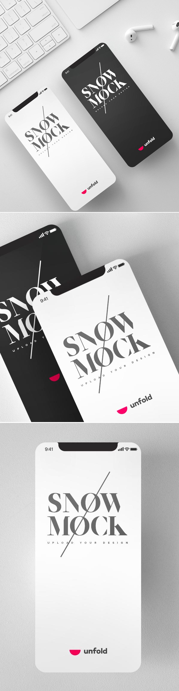 New Free iPhone X Mockups with Different Perspective