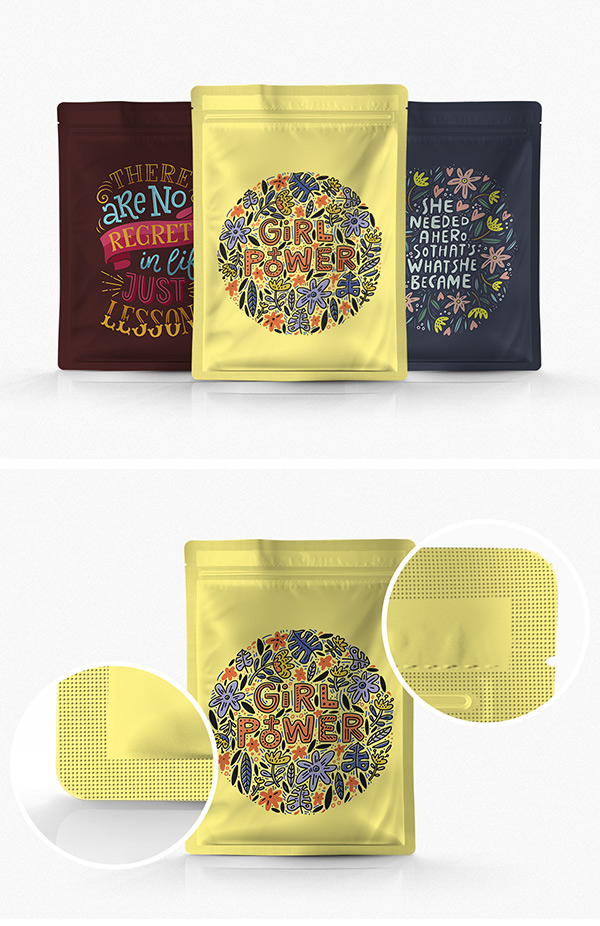 Free Pouch Packaging PSD Mockup