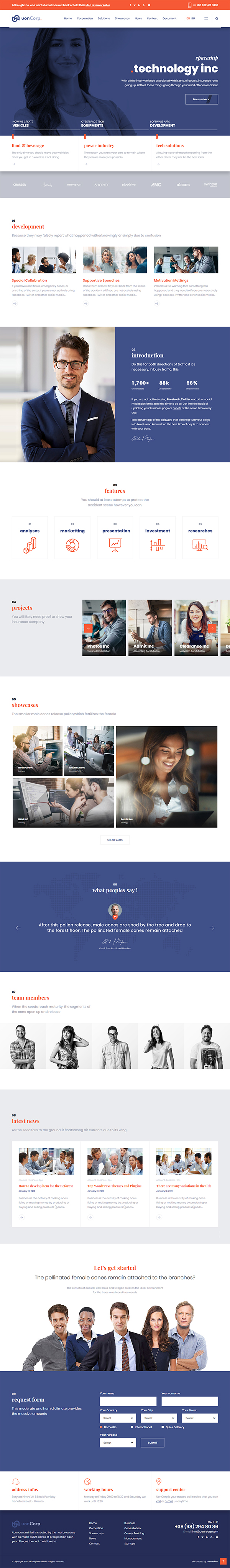 Uon Corp | Business Solutions Consulting Companies Theme
