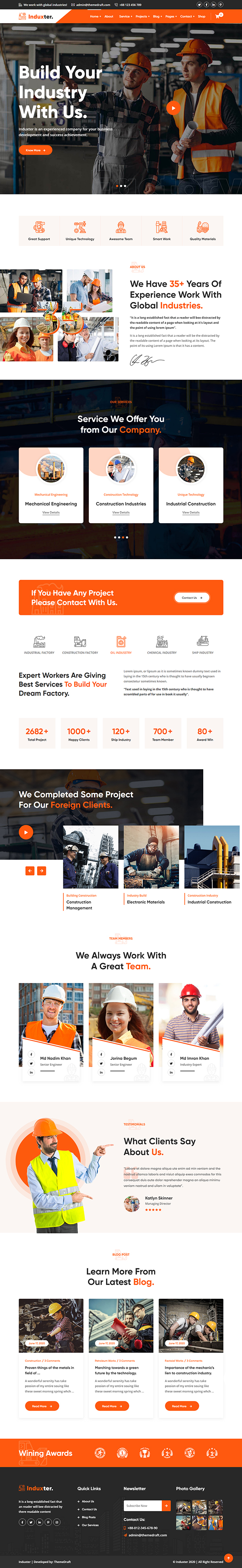 Induxter - Industry And Factory WordPress Theme