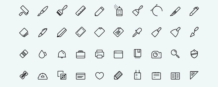 Art Icons Thin Line-Style Icons