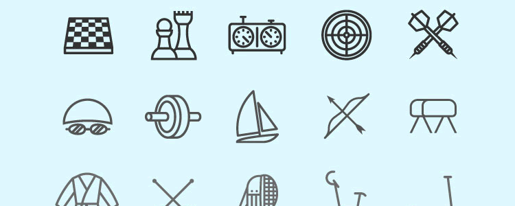 100 Lineal Sport Icons Pack
