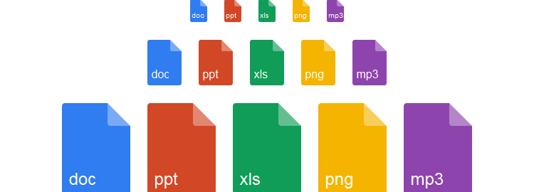 Fileicon, a collection of pure CSS file icons