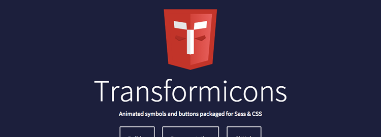 Transformicons - Animated icons, symbols and buttons using SVG and CSS