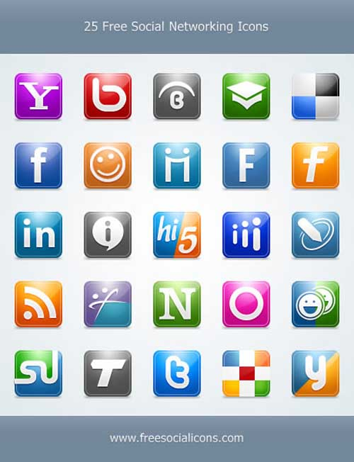 social bookmark 05 25 Social Bookmarking Icon Sets for Desingers and Bloggers