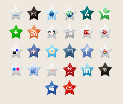 social bookmark 07 25 Social Bookmarking Icon Sets for Desingers and Bloggers