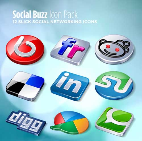 social bookmark 16 25 Social Bookmarking Icon Sets for Desingers and Bloggers