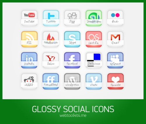 social bookmark 23 25 Social Bookmarking Icon Sets for Desingers and Bloggers