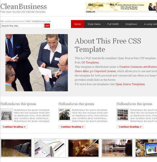 Csstemplates15 in 50 Free CSS/(X)HTML Templates