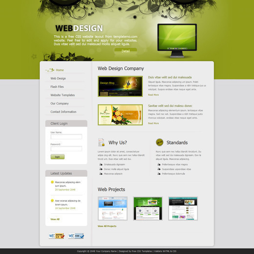 Csstemplates24 in 50 Free CSS/(X)HTML Templates