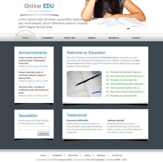 Csstemplates27 in 50 Free CSS/(X)HTML Templates