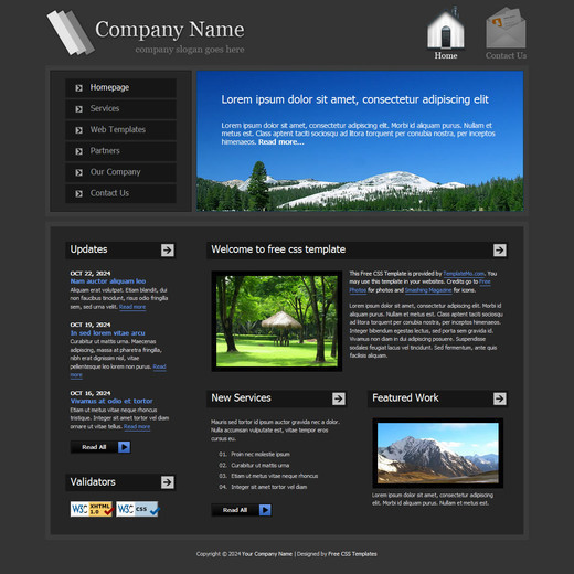 Csstemplates28 in 50 Free CSS/(X)HTML Templates