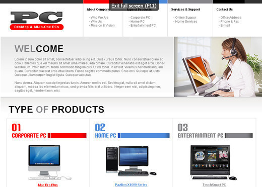 Csstemplates34 in 50 Free CSS/(X)HTML Templates