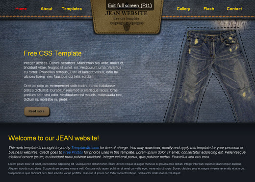 Csstemplates35 in 50 Free CSS/(X)HTML Templates