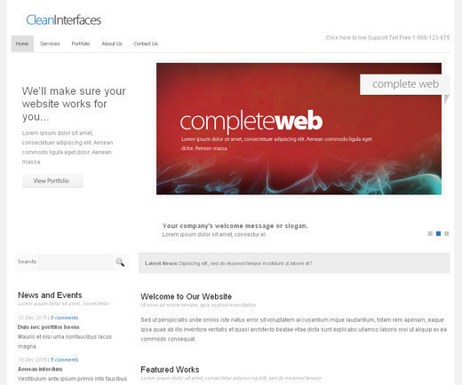 Csstemplates46 in 50 Free CSS/(X)HTML Templates