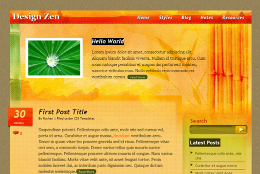 Csstemplates59 in 50 Free CSS/(X)HTML Templates