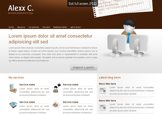 Csstemplates64 in 50 Free CSS/(X)HTML Templates