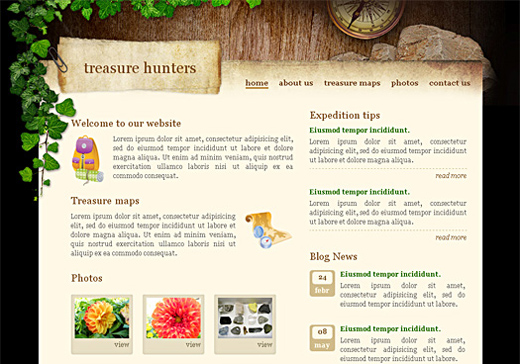 Csstemplates66 in 50 Free CSS/(X)HTML Templates