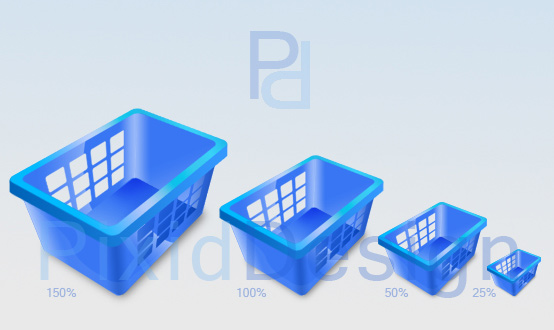 Shopping Basket Icons 3D<