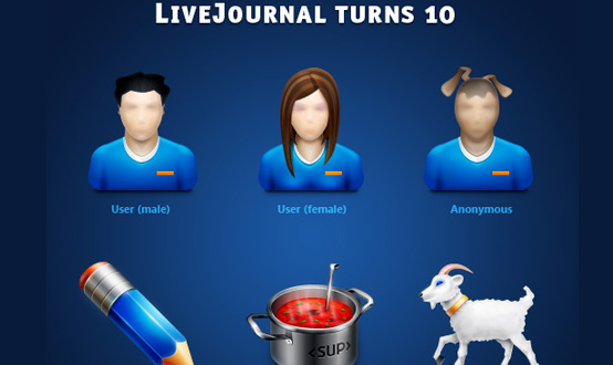 LiveJournal 10 Years Icons Set