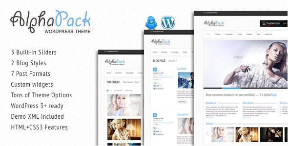 alphapack 60 Awesome Wordpress Themes of February 2012