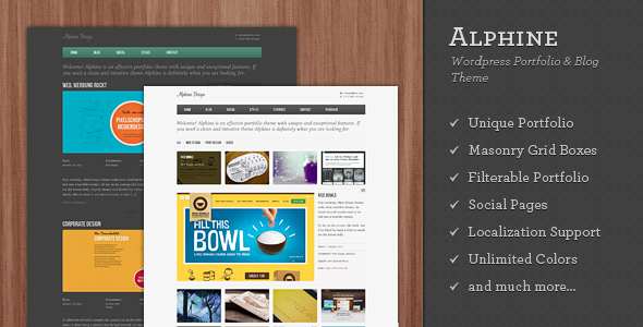 alphine 60 Awesome Wordpress Themes of February 2012