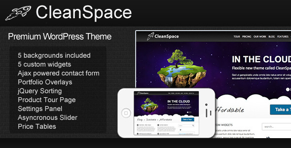 cleanspace 60 Awesome Wordpress Themes of February 2012
