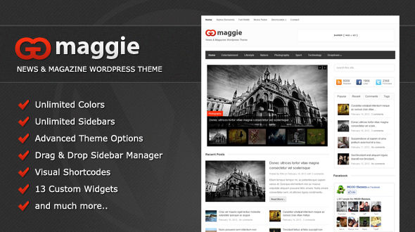 maggie 60 Awesome Wordpress Themes of February 2012