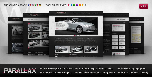 parallax 60 Awesome Wordpress Themes of February 2012