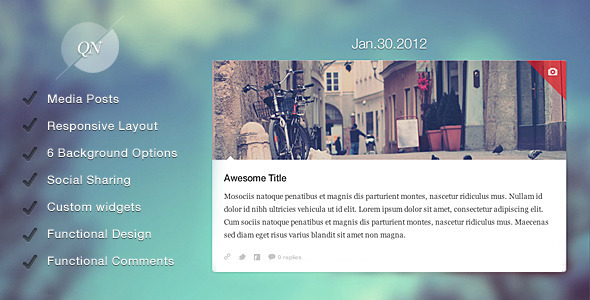 quicknote 60 Awesome Wordpress Themes of February 2012