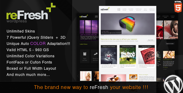 refresh 60 Awesome Wordpress Themes of February 2012