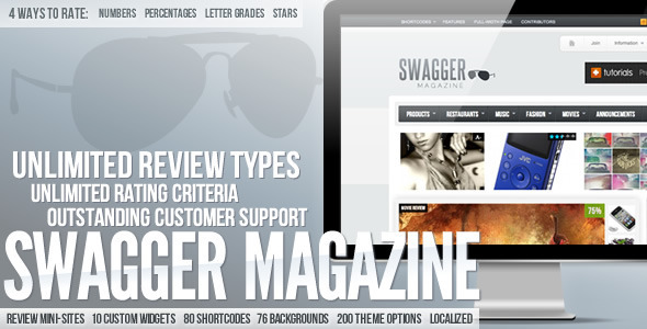 swag mag 60 Awesome Wordpress Themes of February 2012