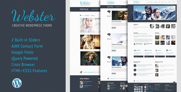 webster 60 Awesome Wordpress Themes of February 2012