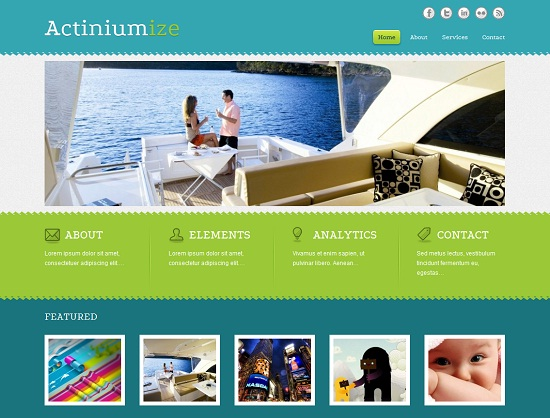 Actiniumize 35 Free and Professional looking WordPress Themes