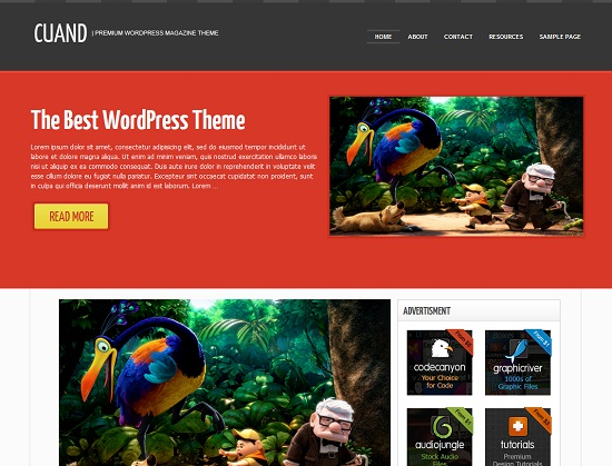 Cuand 35 Free and Professional looking WordPress Themes