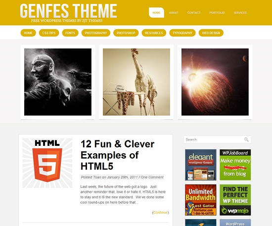 Genfes 35 Free and Professional looking WordPress Themes