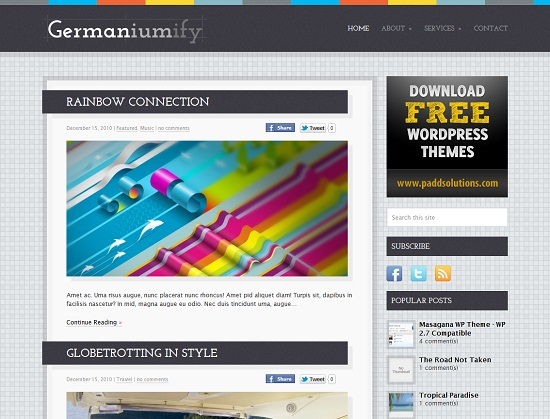 Germaniumify 35 Free and Professional looking WordPress Themes