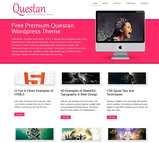 Questan 35 Free and Professional looking WordPress Themes