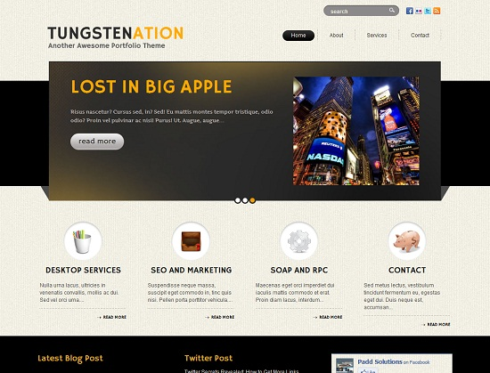 Tungstenation 35 Free and Professional looking WordPress Themes