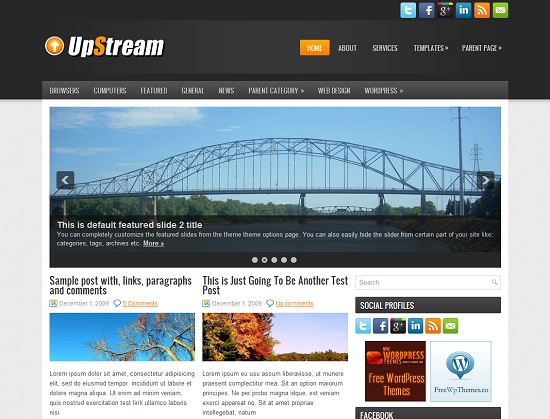 UpStream 35 Free and Professional looking WordPress Themes