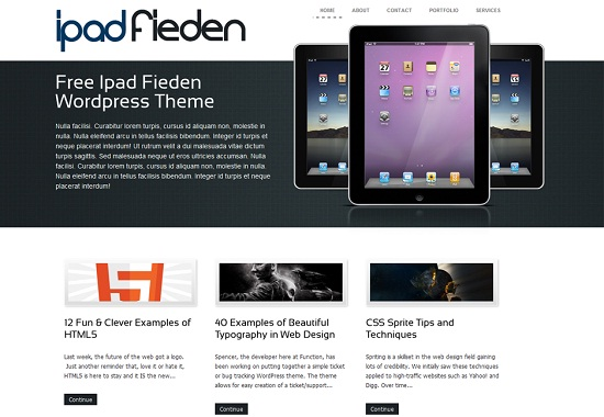 iPadFieden 35 Free and Professional looking WordPress Themes